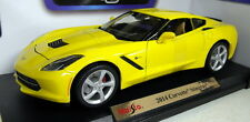 1/18 Maisto escala 46629 2014 Chevrolet Corvette Stingray Yello Diecast Modelo de Coche
