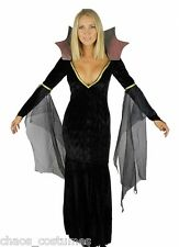 Medusa Morticia Adams Gothic Witch Vampire Dark Angel Underworld Bride Costume