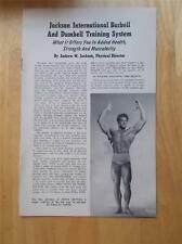 JACKSON BARBELL AND DUMBELL TRAINING SYSTEM muscle booklet STEVE REEVES