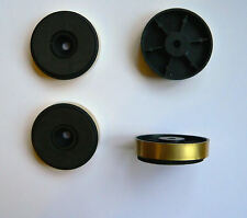 Low profile 40mm Gold Feet x 4 for HiFi Amplifier Cabinets
