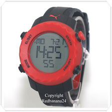 PUMA MENS BLACK&RED SHARP SILICONE STRAP WATCH PU911031005