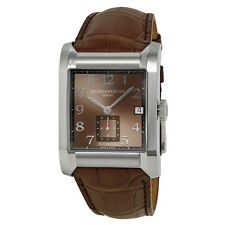 Baume and Mercier Hampton Leather Strap Mens Watch 10028