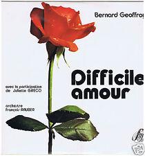 LP DIFFICILE AMOUR JULIETTE GRECO FRANCOIS RAUBER BERNARD GEOFFROY