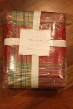 Pottery Barn Blake Plaid FULL QUEEN Duvet Cover NEW NWT Holiday Christmas