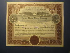 Old Vintage 1924 - HARMILL DIVIDE MINING CO. - Stock Certificate - NEVADA