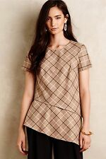 NWT Sz L Anthropologie Anaretta Blouse Plaid Structured Size Large by Bailey 44