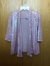 Next Girls Sequins Detail Jacket In Dusky Pink Age 12 Years