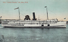 Eastern Steamship Co SS Calvin Austin ST JOHN New Brunswick Canada 1907-15 PC
