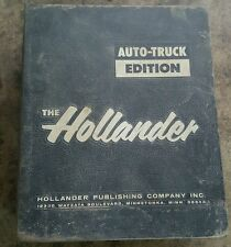 The Hollander Auto-truck Manual 1968