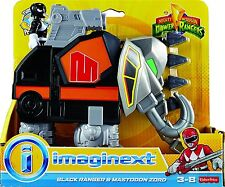 Imaginext Mighty Morphin Power Rangers - Black Ranger and Mastodon Zord *NEW*