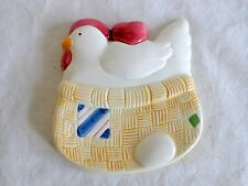 Chicken Spoon Rest Woven Nest Egg Rooster Ceramic