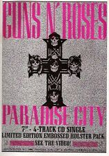 GUNS N' ROSES Paradise City UK magazine ADVERT / mini Poster 11x8""