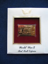 1994 WWII Red Ball Express replica 22kt Gold Golden Cover FDC FDI Stamp
