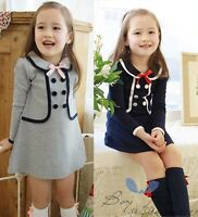 Kids Toddlers Girls Clothing Princess Long Sleeve Tutu Dress Skirt Ages 2-7Years
