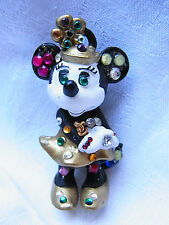 Vintage Design Strass Brosche Brooch Walt Disney Minnie Mouse Figur Bully Nr.147