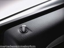 Mercedes Benz AMG Original Door pin 4 Piece Brushed stainless steel Silver gray