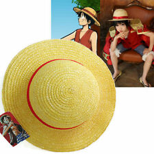 US-One Piece Luffy Anime Cosplay Straw Boater Beach Hat Cap Halloween FreeShip