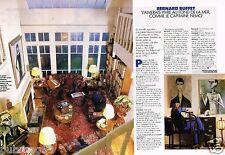 Coupure de Presse Clipping 1990 (2 pages) Bernard Buffet