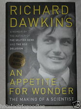 Richard Dawkins An Appetite For Wonder signed book Hardcover Autographed