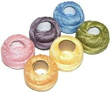 PRESENCIA PERLE (PEARL) COTTON SIZE 8 THREAD SAMPLER PACK, MONET 6 Colors NEW