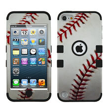 For iPod Touch 5 5th Gen Rubber IMPACT TUFF HYBRID Case Skin Cover Baseball