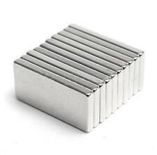 10 Pezzi Molto Forte Blocco Cuboide Magneti Frigo Neodimio Terre Rare 20x10x2mm