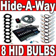 160W 8 HID Bulb Hide-A-Way Emergency Hazard Warning Flash Strobe Light System#11