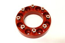 """Skid Steer Wheel Spacer 2"""" X 9/16"""" Stud - Aluminum - Anodized Red"""