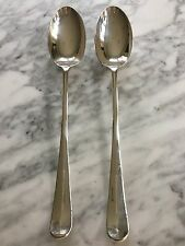 """Leonard Silverplate 13"""" Serving Spoons Pair Made In Italy"""