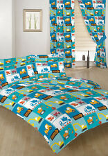 Construction Children's Double Bed Duvet Cover Set & 2 Pillowcases Bedding Kids