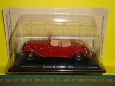 Voiture 1/43e Atlas CITROEN TRACTION - Traction 22 Cabriolet Décapotable - 1934