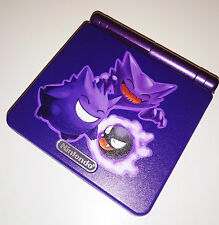 Personnalisé imprimé & re-shell pokemon gengar haunter nintendo game boy advanced sp