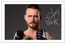 Cm PUNK WWE WRESTLING signé autographe d'impression photo