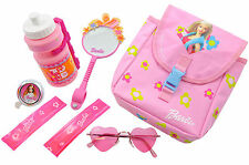 BARBIE GIFT PACK-BOTTLE BELL MIRROR SUNGLASSES REFLECTIVE ARMBANDS BAG