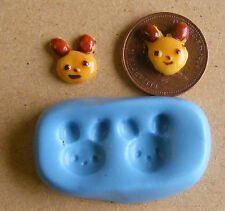 1:12 Reusable Animal Face Mold - Mould Dolls House Miniature Food Accessory