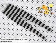 ☆╮Cool Cat╭☆【BP-114】Blythe Pantyhoses Doll Socks # Stripe Black+Grey