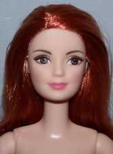 Nude Barbie - Fashionista Doll Red Hair Brown Eyes for OOAK or Repaint