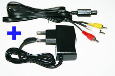 Power supply + TV AV cable Super Nintendo SNES Electricity Chinch
