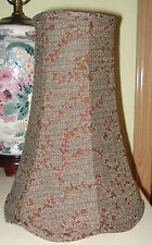 "Tall Slender 2 Tone Brown Leaf Printed Lamp Shade 12.5 "" Tall X 9"" Wide NEW"