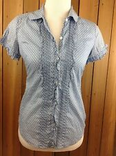 AMERICAN EAGLE Short Sleeve Button Down Blouse ~ Size 4