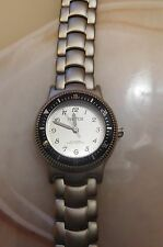 NAUTICA WOMEN'S STAINLESS STEEL WATCH  SILVER FACE & DIVE-STYLE BEZEL FREE SHIP