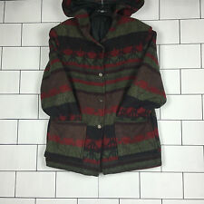 RARE VINTAGE RETRO AZTEC URBAN TRIBAL NAVAJO OVERSIZED FESTIVAL JACKET COAT #24