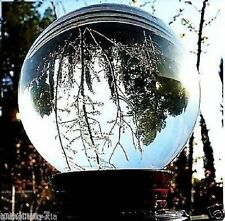 HOT SELL ASIAN QUARTZ CLEAR CRYSTAL BALL SPHERE 80MM + STAND+FREE GIFT