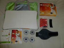 NINTENDO Wii FIT BOARD & GAME LOT ACTIVE PERSONAL TRAINER LEG STRAP BAG BAND SET