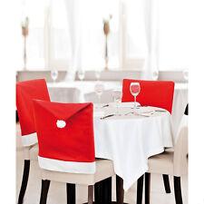 Santa Sombrero silla de comedor Fiesta de Navidad cubrir/Cena Decoración de Mesa