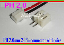 JST PH 2-Pin 2.0mm Female Housing Connector wire L:300mm & PCB Header x 5 SETS