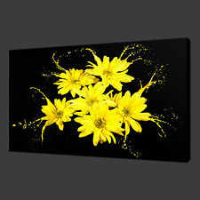 YELLOW FLOWERS SPLASH CANVAS WALL ART PICTURES PRINTS 30 X 20 Inch WALL ART