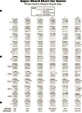Super Chord Chart for Guitar - Guitar Fingering Chart Book - NEW 014032038