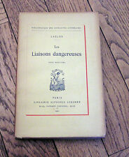 LACLOS  Les Liaisons Dangereuses Tome 2 Bibliothèque Joyeusetés Littéraires 1921