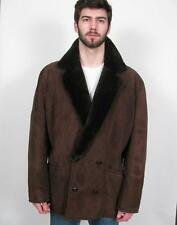 CANTERBURY NEW ZEALAND REAL SHEEPSKIN SHEARLING LEATHER FUR WOOL COAT JACKET~40